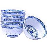 FEE-ZC Home Snack Dip Bowls Keramik-Schüssel-Set, japanische Müsli / Suppe, 2/6 Geschenk-Sets für Restaurant in der Küche (Stil: eine Schüssel)