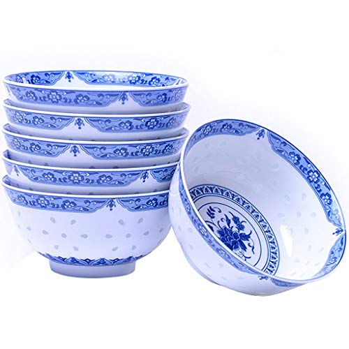 Home Snack Dip Bowls Servies Keramiek Bowl Set, Japans Design Bowl of Cereal/Soup, 2/6 Sets Kitchen Restaurant Gifts (Style: One bowl)