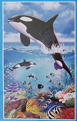 Killer Whale Orca Ocean Party Wall Decoration - 42 x 72 in (Birthday Event - Photo Booth Prop)