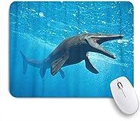 NIESIKKLAマウスパッド モササウルス巨大な海のトカゲ絶滅 ゲーミング オフィス最適 高級感 おしゃれ 防水 耐久性が良い 滑り止めゴム底 ゲーミングなど適用 用ノートブックコンピュータマウスマット