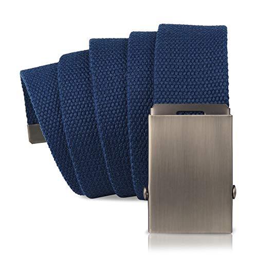 KEYNAT Cintura di Tela con Fibbia Scorrevole in Metallo per Esterno, Sport (blu)