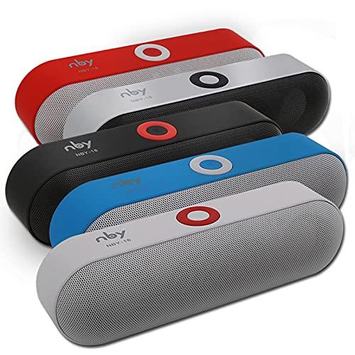 IYUNDUN Altavoz Bluetooth Inalámbrico Portátil, Sistema De Sonido Estéreo 3D, Sonido Envolvente, Tiempo De Reproducción 10H, para El Hogar, Al Aire Libre (Color : Gray)