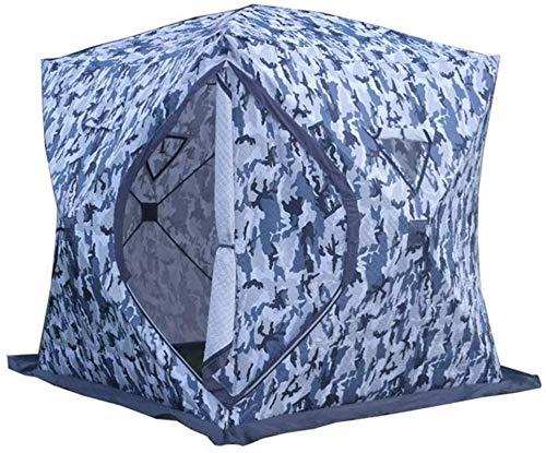 Tiendas de campaña para acampar Paquete portátil al aire libre Tienda de algodón grueso Camuflaje Cálido y frío Pop Tienda desmontable es ideal para que las familias lo tengan para la pesca de mochile