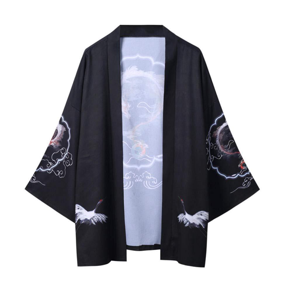 Yukata Haori Dragón Japonés Kimono Cardigan Hombres Samurai Traje Asiático Ropa Kimonos Chaqueta For Hombre De La Camisa Yukata Haori Zzzb (Color : Style F, Size : XL): Amazon.es: Hogar