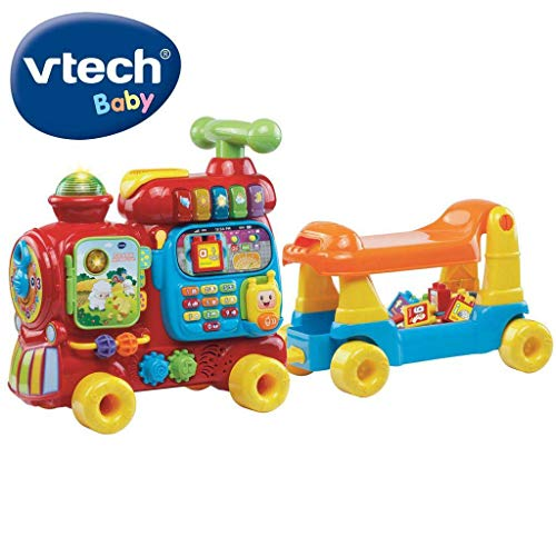 Vtech VTC-TOY09 Push & Ride Alphabet Train (Englische Sprache) [UK Import], transparent, 200 g, 76.5 x 25 x 40 cm, 181903