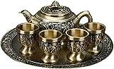 Chinese Tea Set Teapots Afternoon Tea Set Tea Infuser Teapot Bronze Tea Set Bronze Elephant Tea Set 200Ml/20Ml Kung Fu Tea Set Exquisitely Engraved Teapot Practical Teapot Tea Cup Tray Set Copper Per