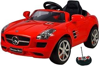 Eco Toys Mercedes SLS Rood Elektrische Kinderauto met Afstandsbediening, MP3 muziek, Koplampen, Claxon