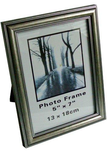 Fotorahmen Bilderrahmen 13x18 cm ANTIK SILBER m. Glasscheibe, zum Stellen oder Hängen