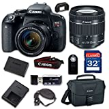 Canon EOS Rebel T7i Digital SLR Camera & EF-S 18-55mm f/4-5.6 is STM Lens - Built-in Wi-Fi with NFC, Bluetooth with 32GB Class 10 Memory Card, Wireless Remote & 100ES Shoulder Bag