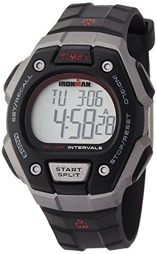 [タイメックス]TIMEX アイアンマン クラシック50ラップ フルサイズ ブラックシルバーケース ブラックス...