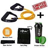 FITSY® Resistance Band Toning Tube + Door Anchor + Carry Pouch +...