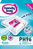 Handy Bag - PH96 - 4 Sacs Aspirateurs, pour Aspirateurs Philips, AEG, Electrolux,...