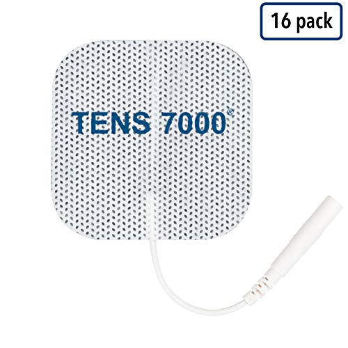 """TENS 7000 Official TENS Unit Pads - Premium Quality OTC TENS Pads, 2"""" X 2"""" - Compatible with Most TENS Machines, Replacement Electrodes Value Pack, 16 Count"""