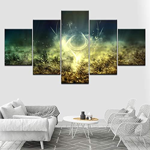 Canvas HD-Prints Afbeeldingen Modulaire muurkunst 5 stuks heldere bloemen Posters Abstract schilderij woonkamer decoratie (geen lijst) 10x15 10x20 10x25cm