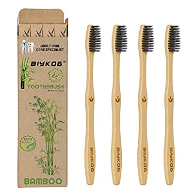 Biykog Natural Bamboo Toothbrushes