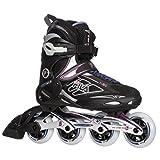 Fila Skates - Primo alu 80 -Rollers en ligne - Femme - Noir (Noir/Violet) - 40 EU (6.5 UK)