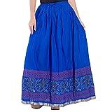 Decot Paradise Women's A-Line Skirt (SKT393_Blue_Free Size)