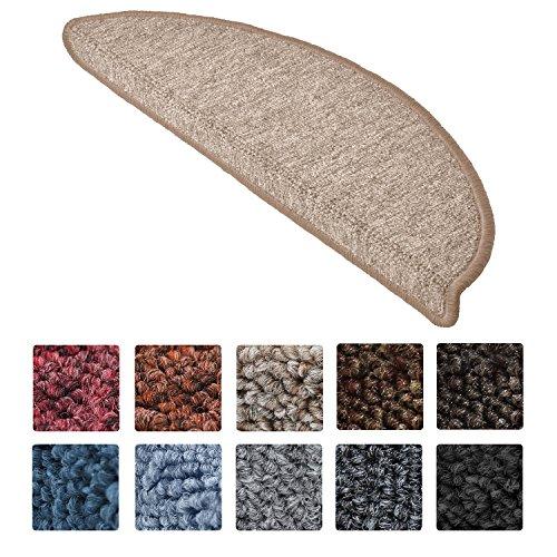 Beautissu Set da 15 tappetini gradini scale ProStair - 56x20cm - passatoie per gradini e scalini singoli - sabbia