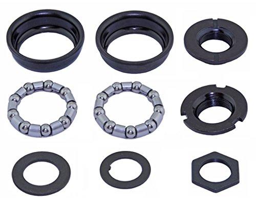 Alta Bike Bottom Bracket Set, Multiple Colors and Sizes (Black, Ball Retainer: 5/16 x 9)