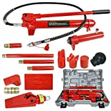 10 Ton Porta Power Hydraulic Jack Body Frame Repair Kit Auto Shop Tool Lift Ram Lifting Height 13.5mm-33mm for Loadhandler Truck Bed Unloader Farm and Hydraulic Equipment Construction