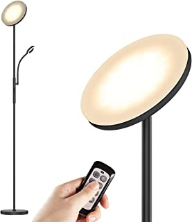 LED Floor Lamps - Standing Lamp with Flexible Gooseneck Reading Light, 2400 Lumens Full Range Dimmable with 3-Color Temperature for Living Romm, Bedroom, Office