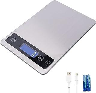 Balance de Cuisine Digitale Electronique,Balance Alimentaire Numérique de Précision en Acier Inoxydable avce 6 unité, Bala...