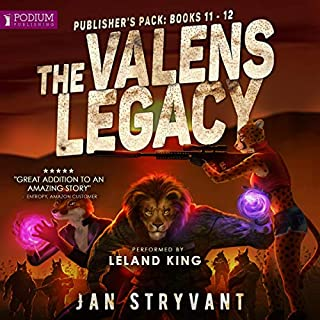 The Valens Legacy: Publisher's Pack 6     The Valens Legacy, Book 11-12              Written by:                                                                                                                                 Jan Stryvant                               Narrated by:                                                                                                                                 Leland King                      Length: 14 hrs and 13 mins     4 ratings     Overall 4.5