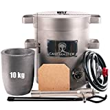 USA Cast Masters 10 KG LARGE CAPACITY Propane Furnace DELUXE KIT with Crucible and Tongs Kiln Smelting Gold Silver Copper Scrap Metal Recycle 10KG KILOGRAM