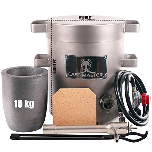 USA Cast Masters 10 - 12 KG LARGE CAPACITY Propane Furnace DELUXE KIT with Crucible and Tongs Kiln Smelting Gold Silver Copper Scrap Metal Recycle 10KG KILOGRAM