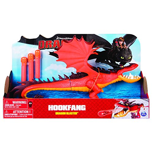 Dragons 6044145 - Main Line Dragon Blaster - Hookfang (Solid), Action Figur, Dragons, Drachenzähmen leicht gemacht, Hakenzahn