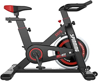 Upright Exercise Bikes, Spin Bike, Belt Drive Indoor Cycling Bike Stationary with Ipad Mount, Flywheel Workout Bike for Home Cardio Gym, with Comfortable Seat Cushion
