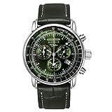 [ツェッペリン] 腕時計 100周年記念モデル グリーンツェッペリン クロノグラフ アラーム チェンジベルト付 8680-4 メンズ 正規輸入品 グリーン