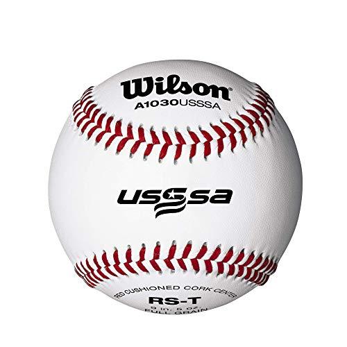 Wilson Youth League and Tournament Baseballs, A1030, SST, USSSA, Tournament (One Dozen)