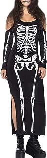 skeleton maxi dress