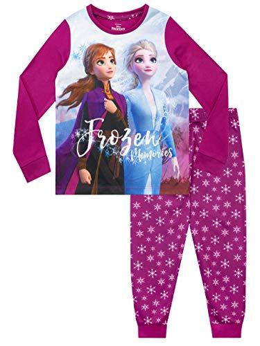 Disney Pijamas de Manga Larga para niñas Frozen El Reino del Hielo Morado 18-24 Meses