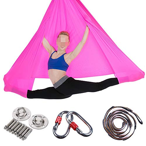 Great Deal! Limaomao Aerial Yoga Swing Sling Elastic Widened Yoga Hammock Inverted Yoga Hammock Aeri...