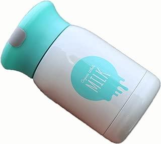 GRSB Botella,Termo 4Color 200Ml Mini Leche Linda Vacas Niños Botella De Termo De Acero Inoxidable Copa De Vacío De Aislamiento Cuerda Oculta Matraces De Taza Recta