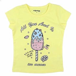 Montero Ice Cream Print Short Sleeves Round Neck T-shirt for Girls