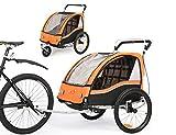 Fiximaster Remorque de vélo 2020 V2 multifonction 2 en 1 - Rotation à 360° - Avec guidon et suspension - Orange BT503