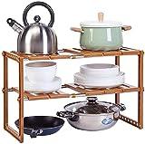 Scaffale per stoccaggio da cucina per uso domestico Angelhjq, 2 livelli espandibile sotto il lavandino Organizer rack, cumulo di stoccaggio multifunzione per cuffie per mobili da bagno
