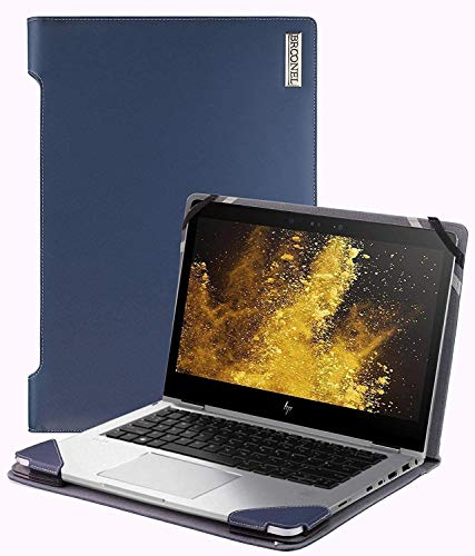 Broonel - Profile Series - Blue Leather Laptop Case - Compatible With The HP ProBook 450 G7 15.6' FHD Laptop