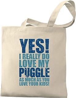 Eddany YES! I REALLY DO LOVE MY Puggle Canvas Tote Bag
