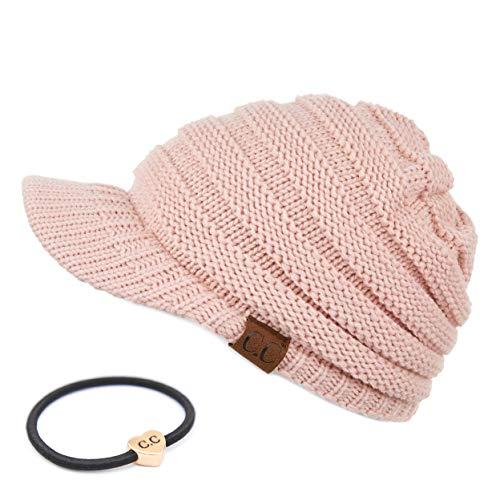 C.C Hatsandscarf Exclusives Damen Rippstrickmütze mit Krempe (YJ-131)(YJ-2023) - Pink - Einheitsgröße