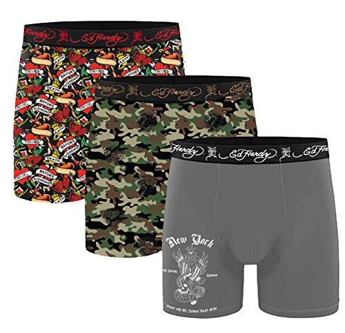 Ed Hardy 3 Pack Microfiber Boxer Brief