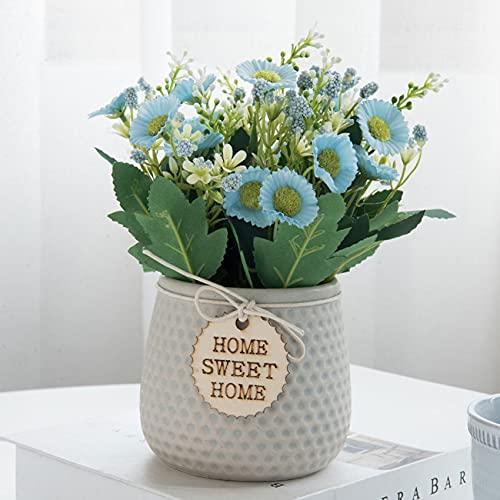 Flores Artificiales Exterior Macetas flores artificiales  Marca GaoTuo