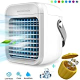 Blaux Portable AC - Rechargeable Water-Cooled Air Conditioner - Portable USB 2000Mah Rechargeable - Rapid Cooling in Just 30 Seconds - Mini Personal Air Conditioning Units+1PCS Silicone Ice Tray