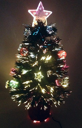 Christmas Concepts 2FT Albero di Natale in Fibra Verde con Stelle E Baule E Base Rossa