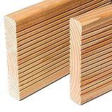 HORI® Douglasie-Terrassendielen Premium I Komplettset, massive Holz-Terrassendielen I Dielenlänge 5 m I Fläche 34 m²