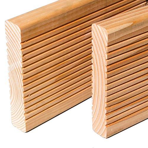 HORI® Douglasie-Terrassendielen Premium I Komplettset, massive Holz-Terrassendielen I Dielenlänge 4 m I Fläche 5 m²