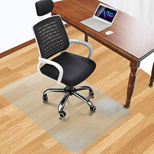 Office Desk Chair Mat for Hard Wood Floor Thick PVC Matte 48